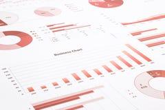 Czerwone biznesowe mapy, wykresy sprawozdanie roczne i streszczać backg, obrazy stock