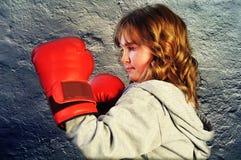 czerwone bokserskie rękawiczki Zdjęcia Stock