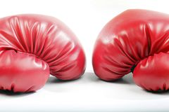 czerwone bokserskie rękawiczki fotografia royalty free
