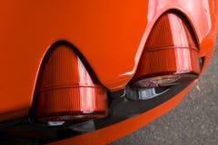 czerwone brakelight supercar Zdjęcie Royalty Free
