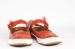 czerwone buty. Zdjęcie Royalty Free