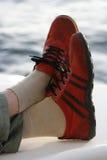 czerwone buty. Fotografia Royalty Free