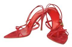 czerwone buty. Zdjęcie Stock