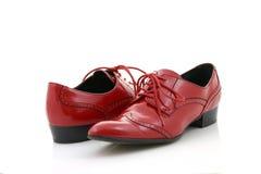 czerwone buty. Zdjęcia Royalty Free