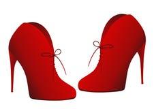 czerwone buty royalty ilustracja