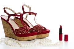 czerwone buty Obrazy Stock