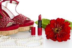 czerwone buty Fotografia Royalty Free