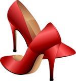 czerwone buty. Obrazy Royalty Free