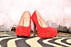 czerwone buty Zdjęcie Royalty Free