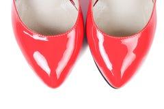czerwone buty kobiet Fotografia Royalty Free