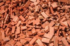 Czerwone cegły brogować na budowach Zdjęcie Stock