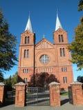 Czerwone cegły kościół, Lithuania Fotografia Royalty Free