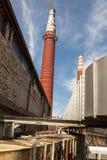 Czerwone cegły kominowe Zdjęcie Royalty Free