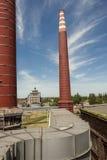 Czerwone cegły kominowe Zdjęcie Stock