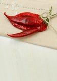 Czerwone chilies pikantność - wysuszony chili pieprz Zdjęcie Royalty Free