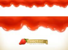 Czerwone cukierki krople ilustracji