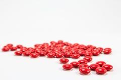 Czerwone cukrowe żakiet pastylki żadny 1 zdjęcie royalty free