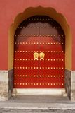 czerwone drzwi Zdjęcia Stock