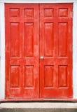 czerwone drzwi. Obrazy Royalty Free