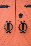 czerwone drzwi Obraz Stock