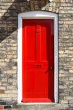 czerwone drzwi Fotografia Royalty Free