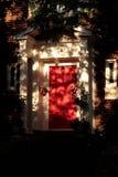 czerwone drzwi Zdjęcia Royalty Free