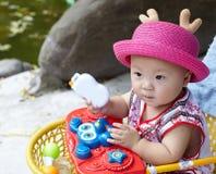 czerwone dziecko kapelusza Fotografia Stock