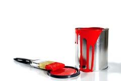 czerwone farb upaćkane dostaw Zdjęcia Royalty Free