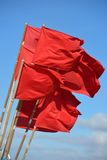Czerwone flaga Obraz Stock