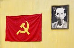 Czerwone flaga partia komunistyczna Obraz Royalty Free