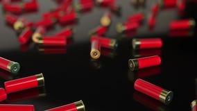 Czerwone flint ładownicy na Odbijającej powierzchni royalty ilustracja