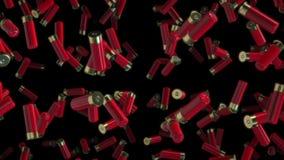Czerwone flint skorupy Unosi się w przestrzeni ilustracja wektor