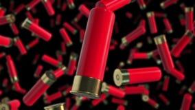 Czerwone flint skorupy Unosi się w przestrzeni ilustracji