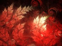 Czerwone fractal gałąź ilustracji