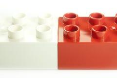 Czerwone i białe cegły Fotografia Stock