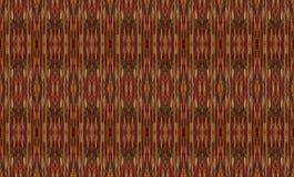 Czerwone i złociste nici w bezszwowym powtórka wzorze Obraz Royalty Free
