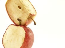 czerwone jabłka się brogującą Zdjęcia Stock
