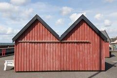 czerwone kabin Zdjęcie Royalty Free