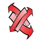 Czerwone kreskówek strzała Fotografia Royalty Free