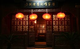 czerwone latarnie obrazy stock