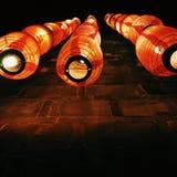 czerwone latarnie Zdjęcie Stock