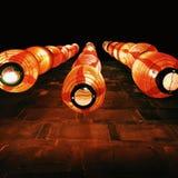 czerwone latarnie Obraz Stock