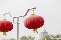 czerwone latarnie z chin obrazy stock