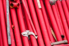 Czerwone metal drymby Zdjęcia Royalty Free