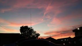 czerwone niebo Zdjęcie Royalty Free