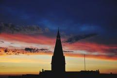czerwone niebo Zdjęcie Stock