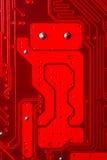 czerwone obwód robot Obrazy Royalty Free
