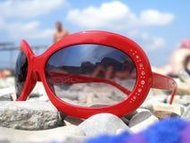 czerwone okulary przeciwsłoneczne Obraz Royalty Free