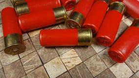 Czerwone łowieckie ładownicy dla flinty zbiory wideo