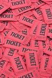 czerwone palowi bilety pionowe Fotografia Stock